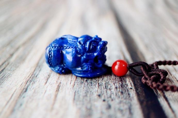 【老矿青金石 | 貔貅】辟邪护主,助你感受富足的能量!-菩心晶舍