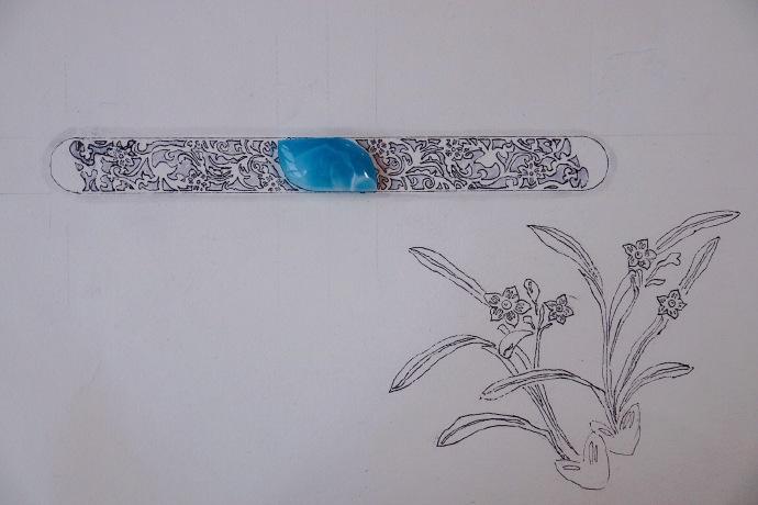『海纹石-复古镯』-兰花~ -菩心晶舍