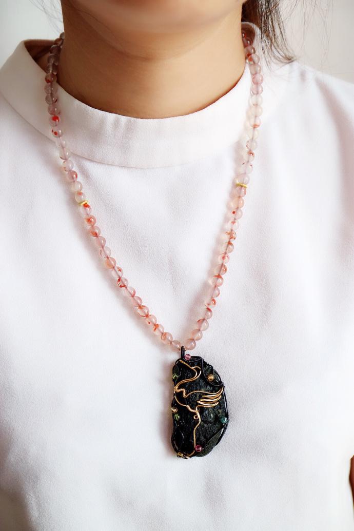 【捷克陨石】仙鹤,仙风道骨,为羽族之长,更是一品鸟-菩心晶舍