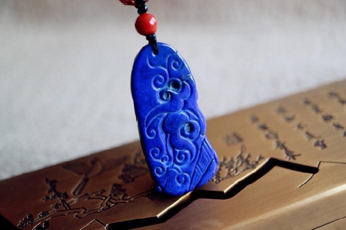 【老矿青金石 | 佛引福至】人顿悟,得禅意,心开福自来,遇到的人需善待-菩心晶舍