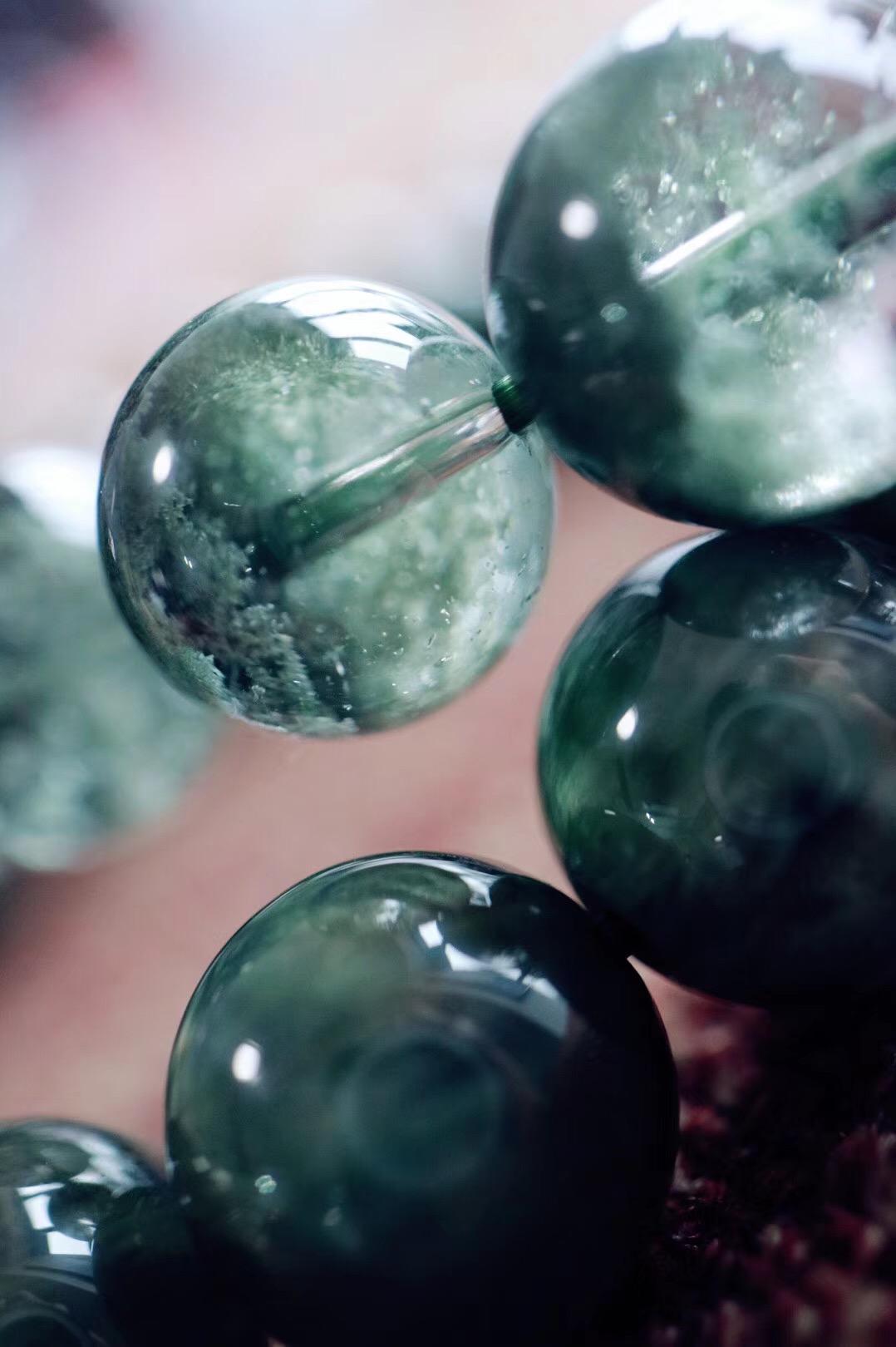 【菩心   绿幽灵&绿发晶】两串绿色精灵,他们可以帮你缓解疲劳,也可以给你增加动力-菩心晶舍