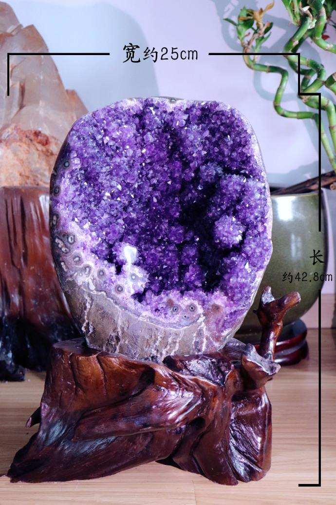 【紫晶簇 摆件】在看不到空间里,为家中磁场挡去层层负能量-菩心晶舍