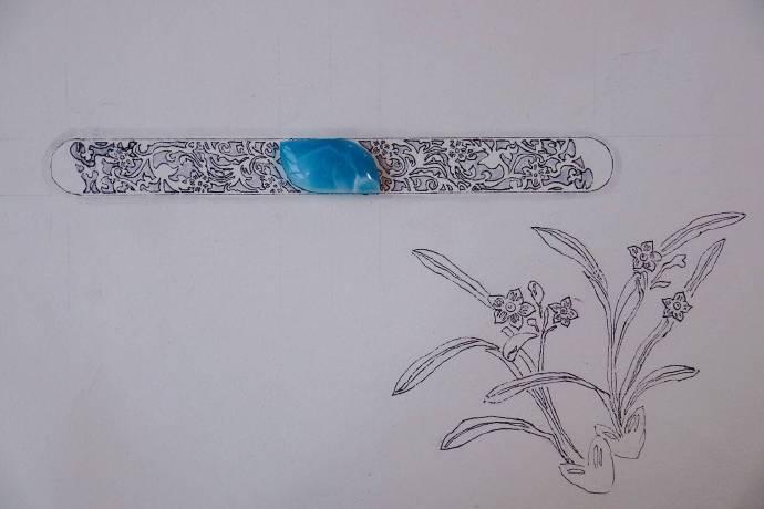还未完工的兰花镯,随拍已能闻到花香了-菩心晶舍