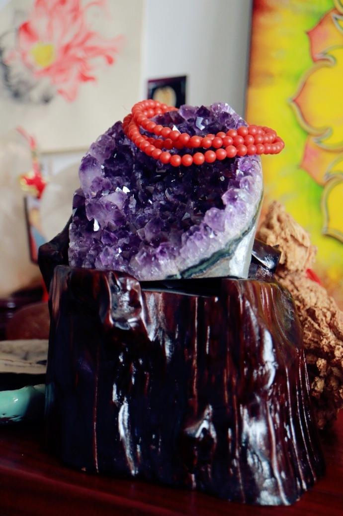 【紫晶簇 | ☯️】原矿乌拉圭紫晶簇摆件,可平衡家庭阴阳,达到更高的频率。-菩心晶舍