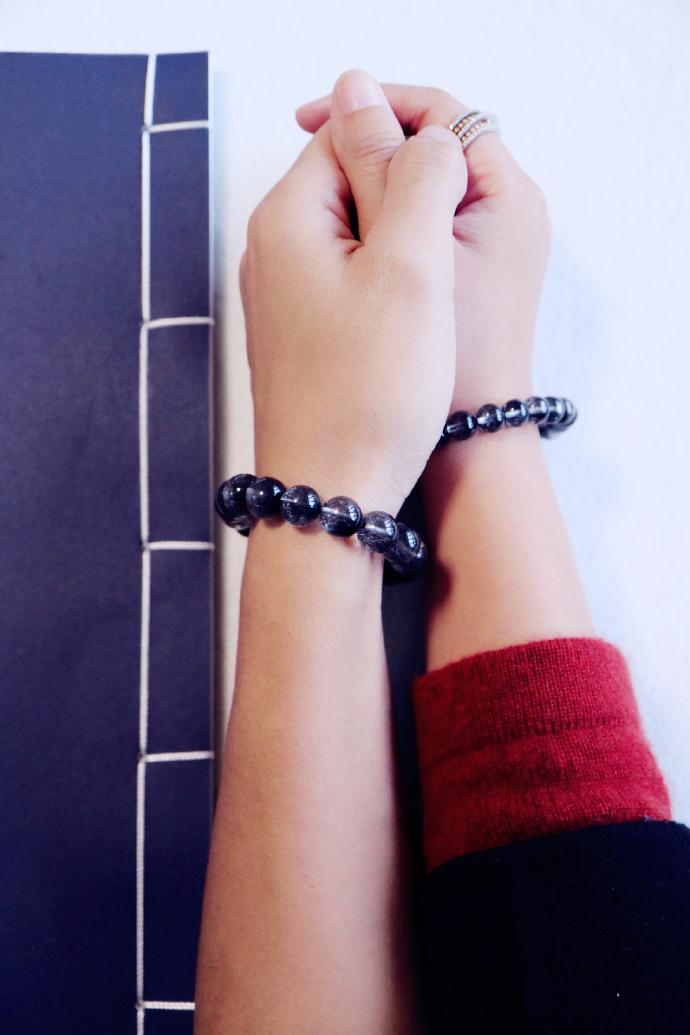 【黑银钛晶·菩心】 黑银钛带有强烈的罡气,有相当强的辟邪能力-菩心晶舍