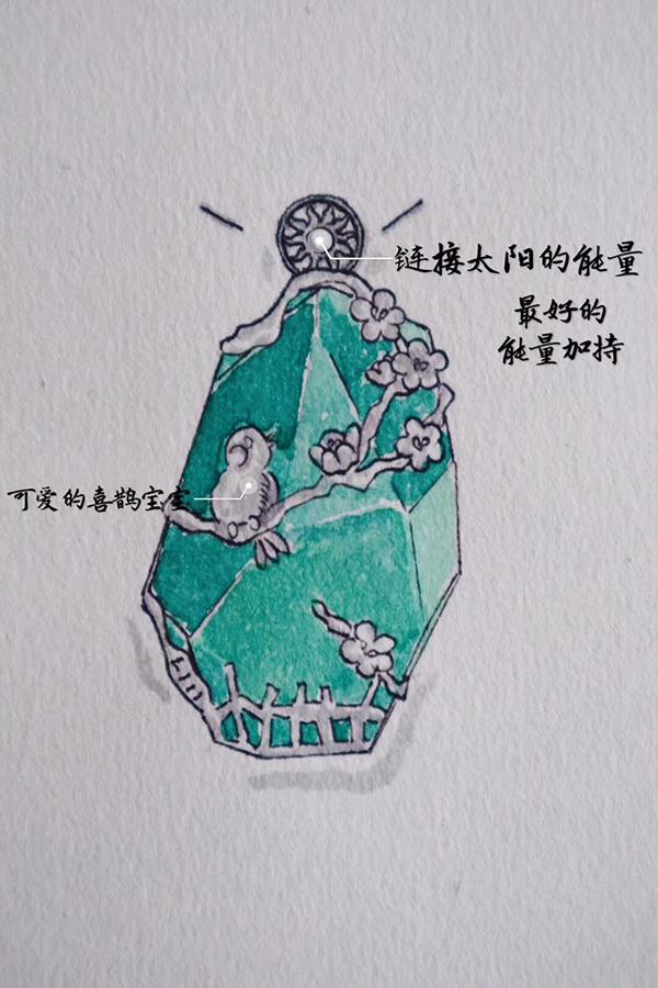 萤石胎毛设计-为龙凤胎宝宝定制-菩心晶舍