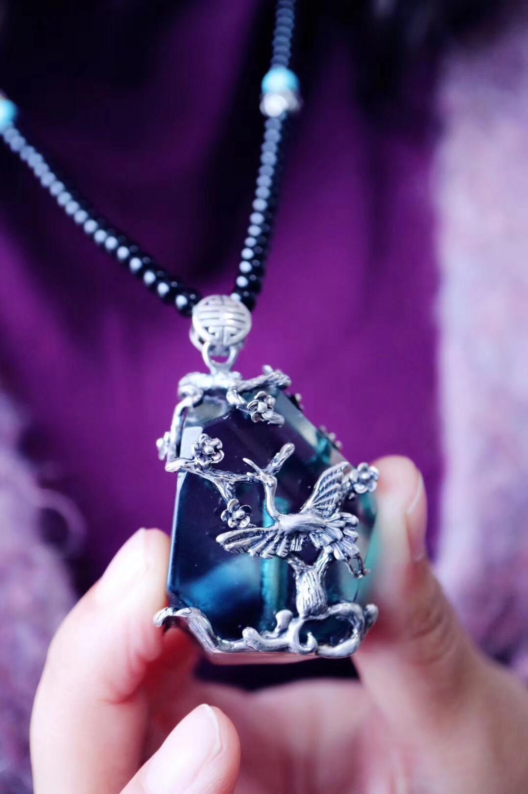 【菩心-仙鹤系列定制】真可谓鹤瘦松青,精神与、秋月争明-菩心晶舍