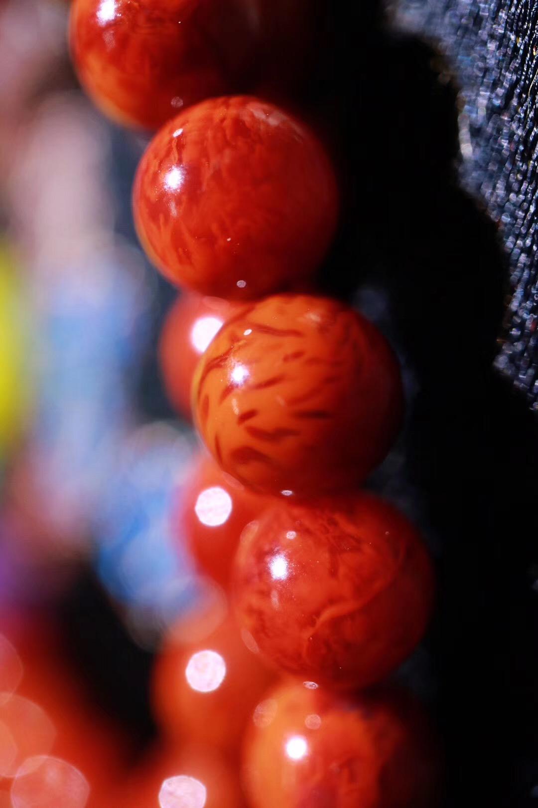 【菩心   南红玛瑙火焰纹】看起来像涌动的火焰一般-菩心晶舍