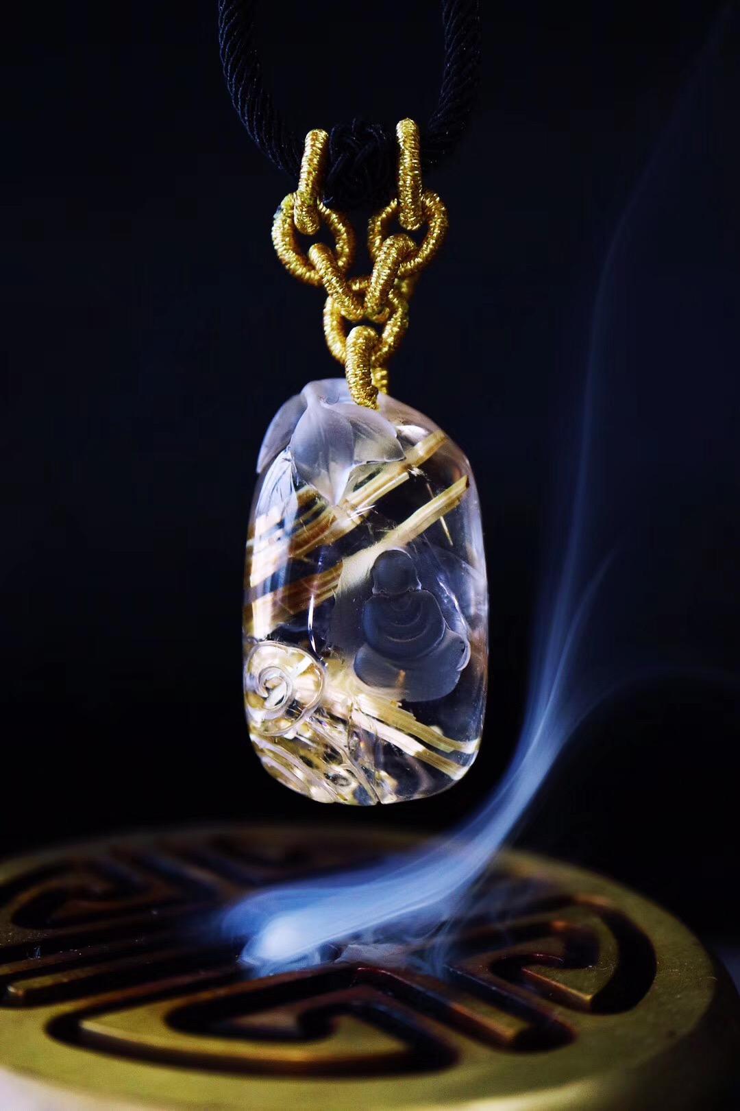 【菩心-钛晶】拥有如此意境的雕刻,甚是少见-菩心晶舍