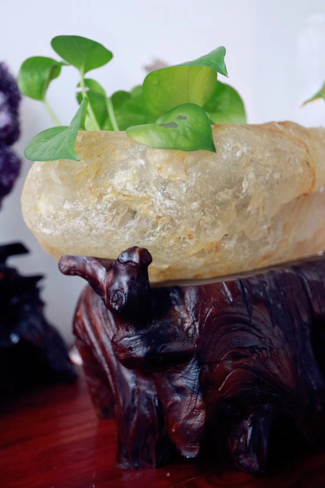 【菩心 | 白水晶聚宝盆】一只经典天然原矿水晶盆-菩心晶舍