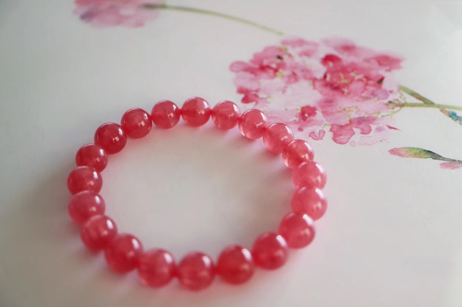 【菩心 | 冰种红纹石】冰润冰润的红纹石,每个女子必备-菩心晶舍