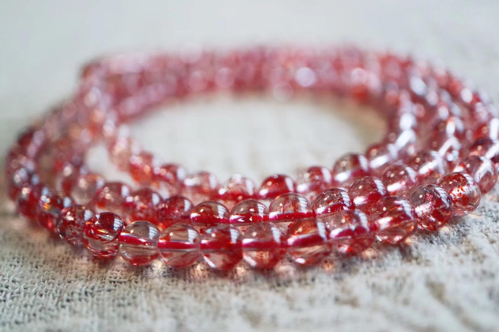 【菩心 | 超七金草莓晶】金草莓晶也是超七水晶里的一种-菩心晶舍