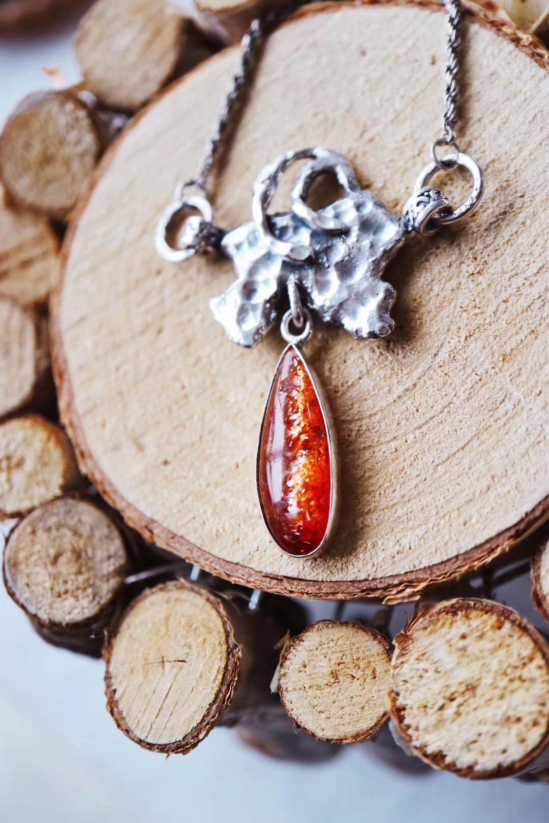 【菩心-太阳石】这一枚太阳石坠,是关于自由的。-菩心晶舍