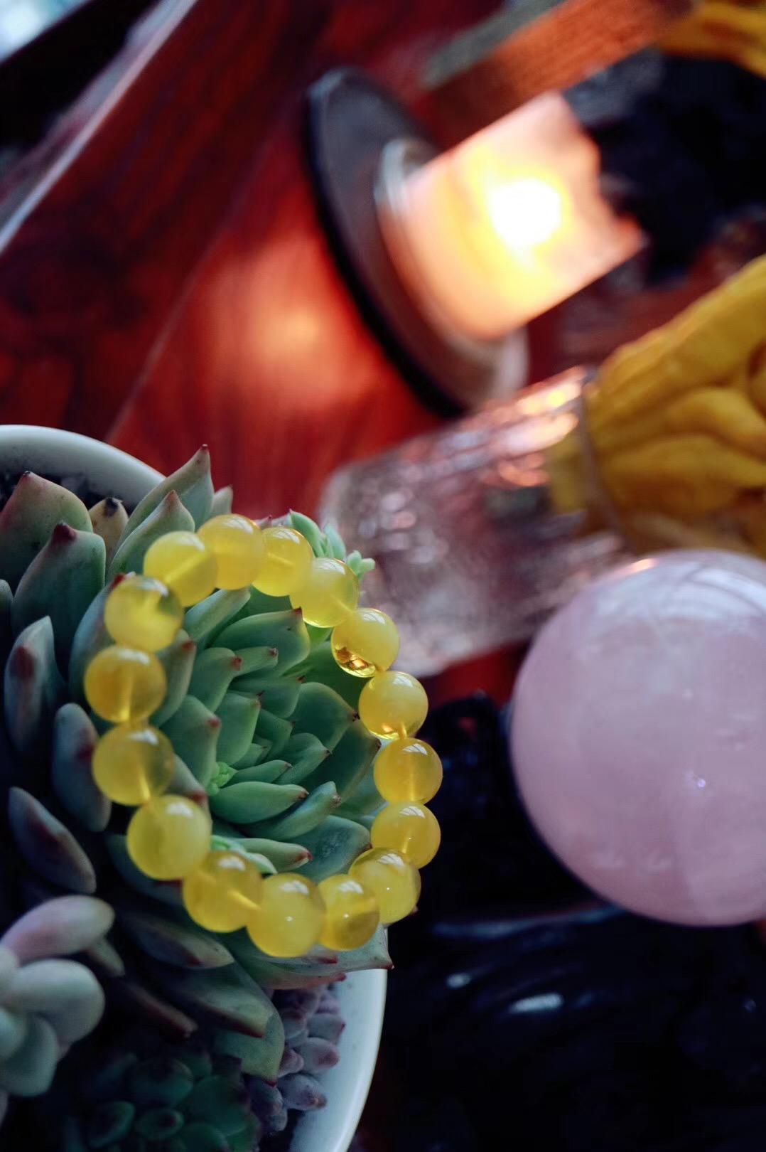 【菩心 | 纯天然蜜蜡】蜜蜡在冬日里,犹如阳光般温暖舒适-菩心晶舍