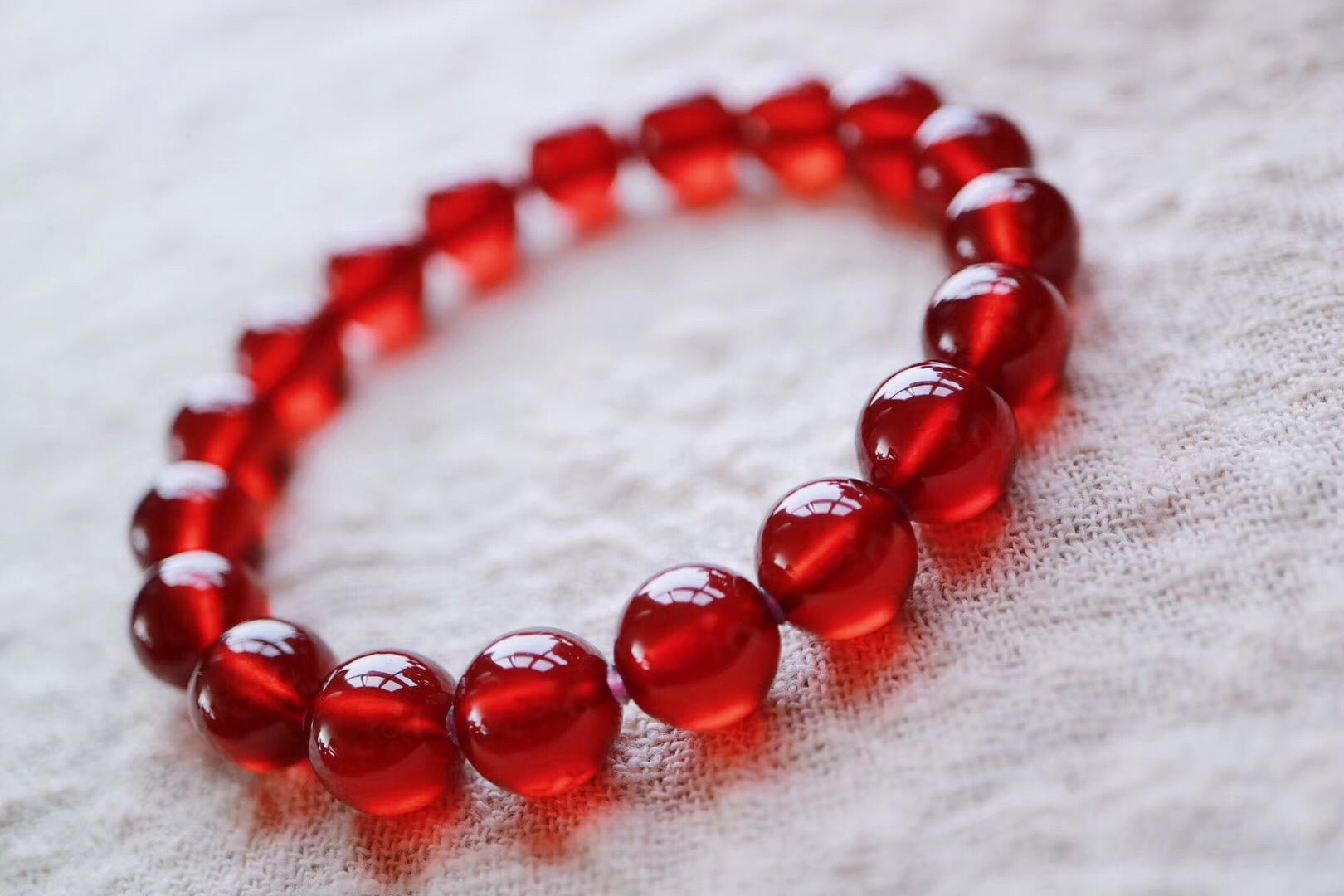 【菩心橙红石榴石】精选两条超级透亮的顶级美物,一条自留,一条送妈妈-菩心晶舍