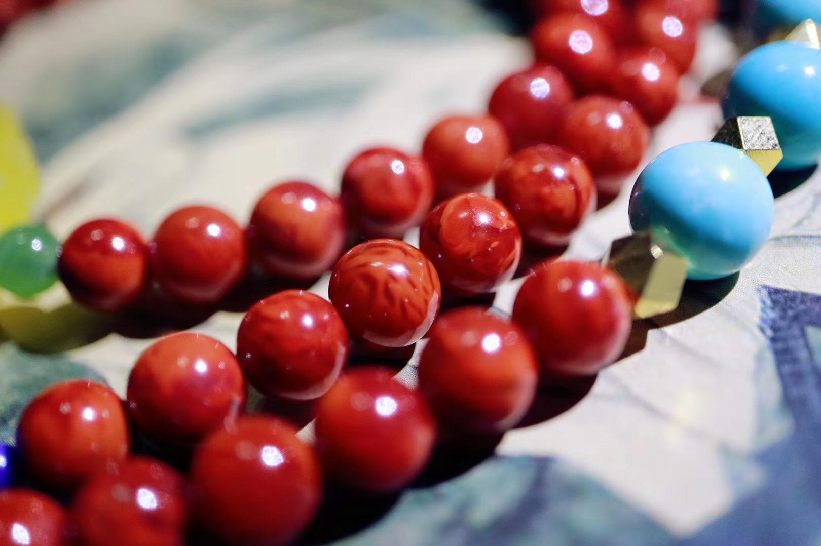 【南红玛瑙】南红火焰纹设计款,手链项链两用,望能入你心上~~-菩心晶舍