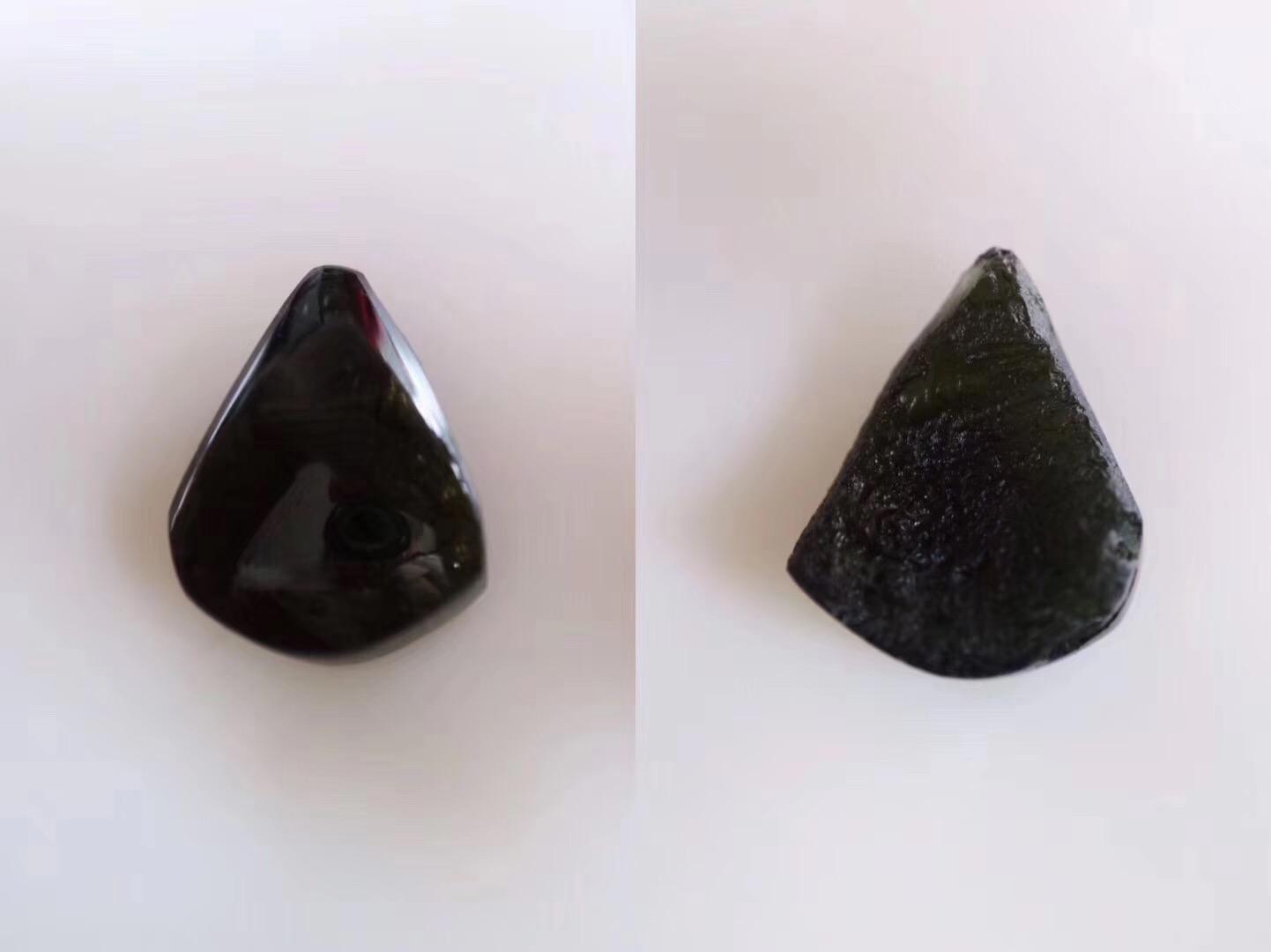【菩心-捷克陨石】一面抛光一面原石层的特别款-菩心晶舍