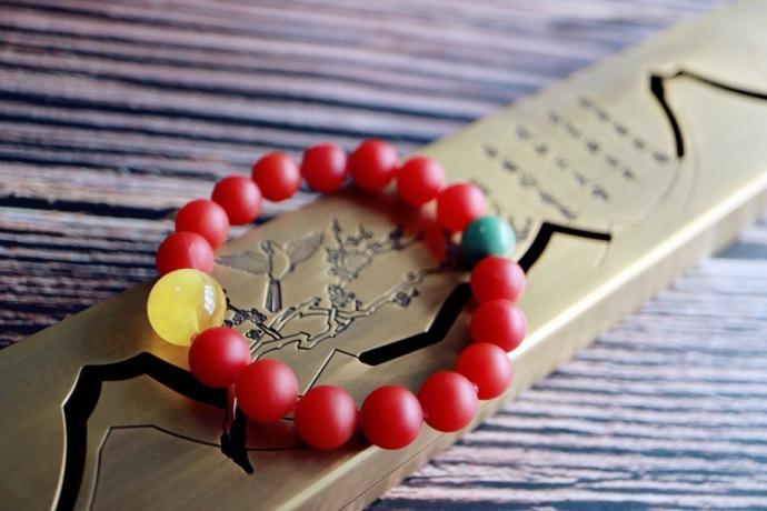 【保山南红玛瑙 | 蜜蜡 | 绿松石】愿有缘人硕果累累、红红火火-菩心晶舍