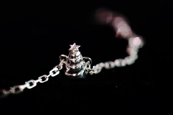 【红纹石爱心|白金】十二生肖手链-猴-菩心晶舍