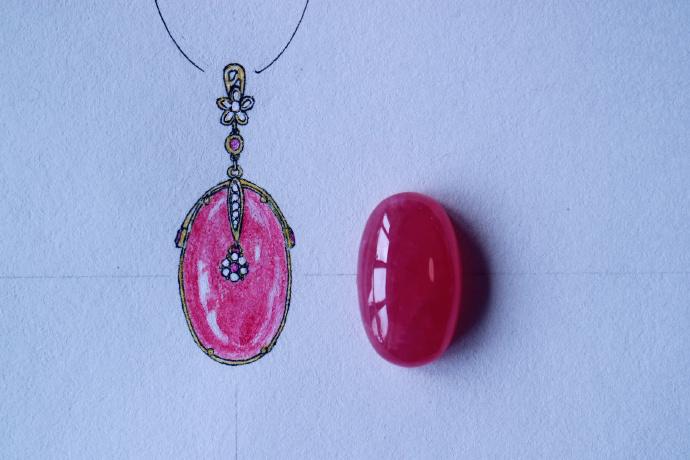 【设计图-红纹石、碧玺】红纹石、碧玺、心中有爱的女子必收-菩心晶舍