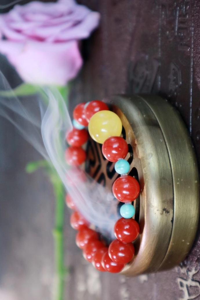 【南红玛瑙-多宝串】 繁花似锦,容颜如玉-菩心晶舍