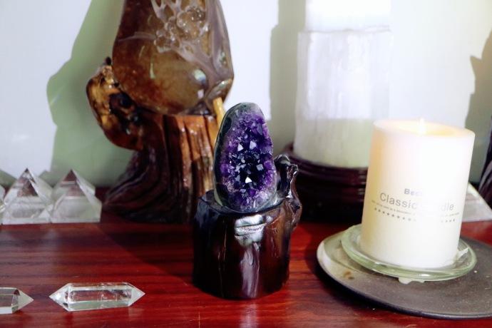 【紫晶簇 | 智慧之眼】可放在书桌或办公桌上缓解疲劳和增强灵感!-菩心晶舍