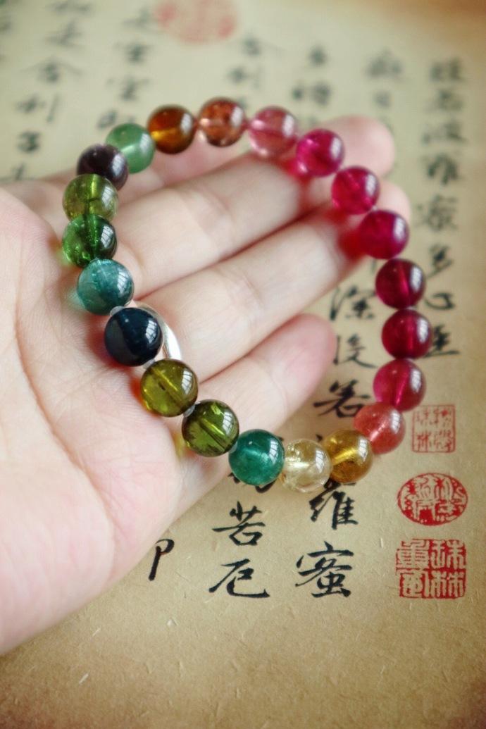 【老矿彩虹碧玺】一半绿色,一半红色,完美到不可替代-菩心晶舍