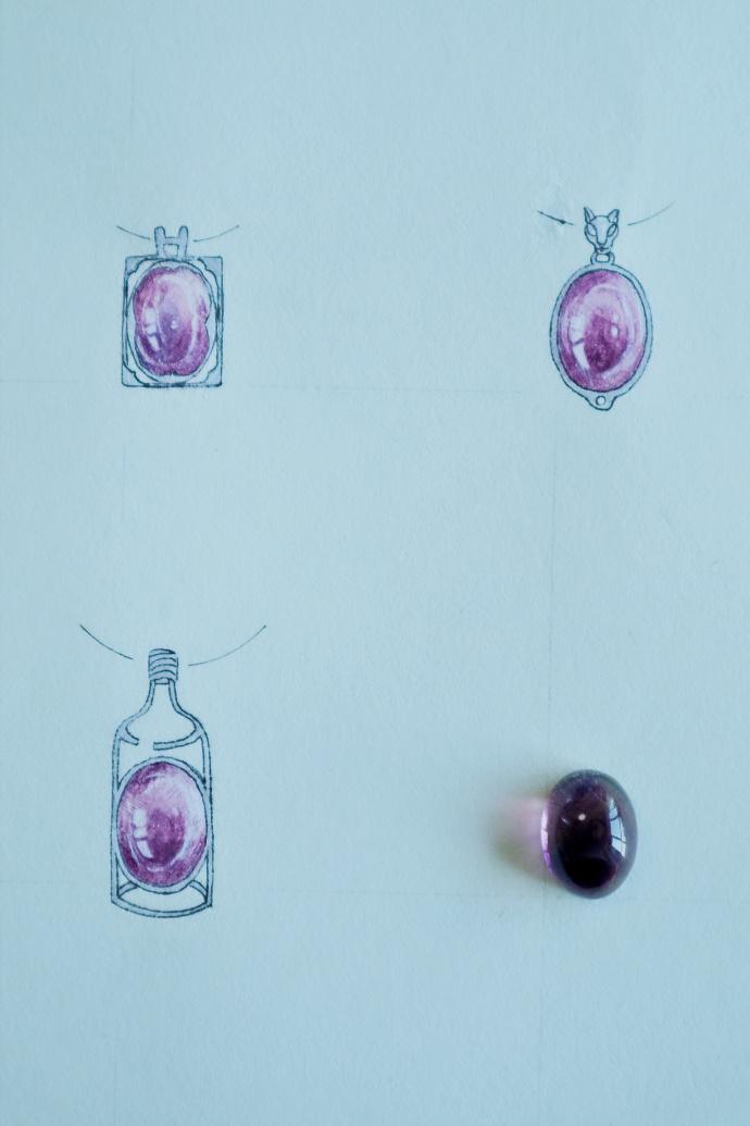 【紫发晶】 超美的一波紫发晶吊坠,绕线、镶嵌都可-菩心晶舍