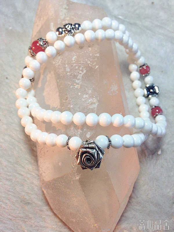 白砗磲和红纹石的设计款,简单-菩心晶舍