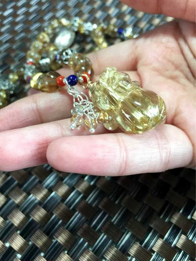 天然钛晶貔貅吊坠项链手链两用款-菩心晶舍