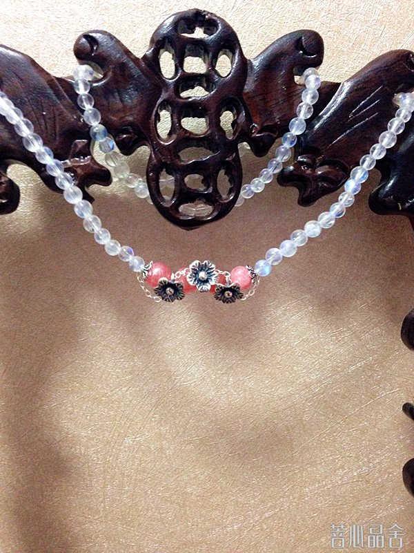 月光石红纹石清新设计款手链-菩心晶舍