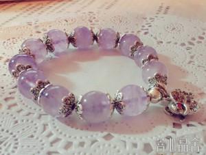 比紫水晶还要透三分的紫锂辉-菩心晶舍