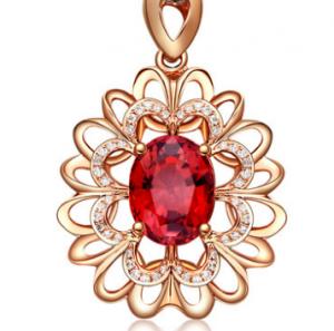 红宝石与石榴石、红碧玺的鉴别-菩心晶舍