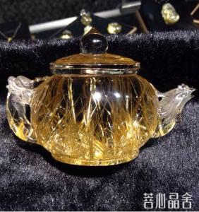 钛晶的两种造假技术及其辨别-菩心晶舍