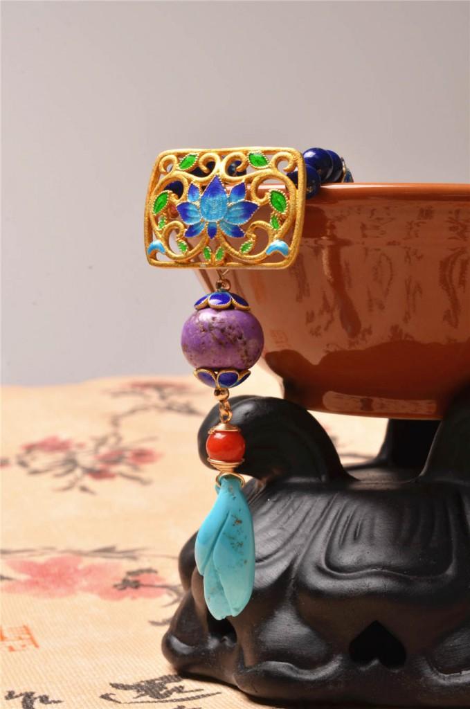 天然精品舒俱来绿松石女款多宝项链-菩心晶舍