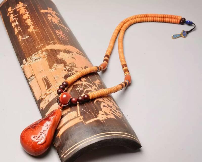 原创设计收藏款苏工南红玛瑙项链龙行天下-菩心晶舍