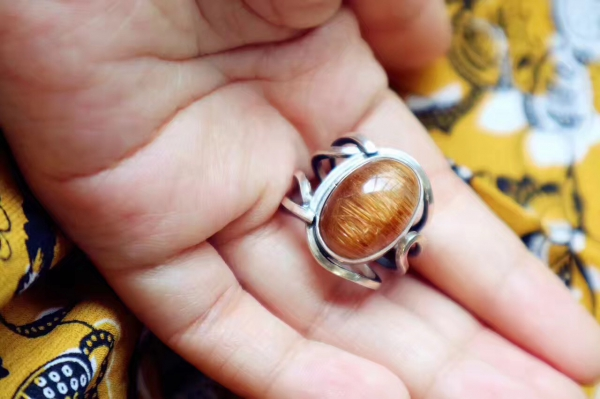 铜发晶 稀有银戒-纯手工-菩心晶舍