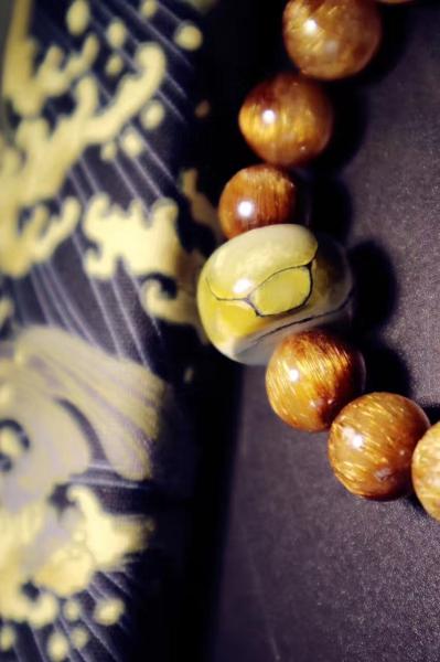 铜发晶 原矿菜籽黄绿松-菩心晶舍