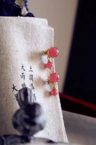 红纹石|耳钉-菩心晶舍