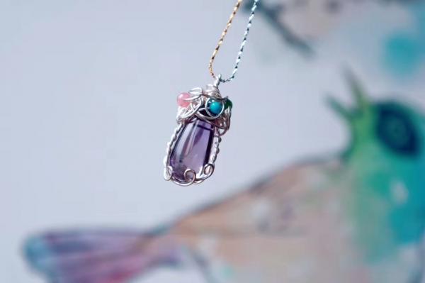 紫黄晶 & 手工绕线-菩心晶舍