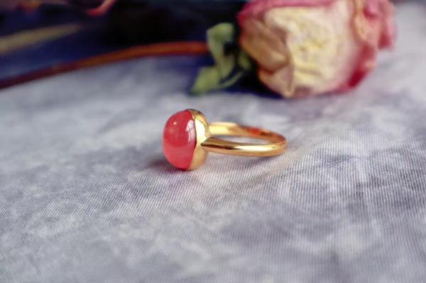 冰种红纹石 & 18k-菩心晶舍