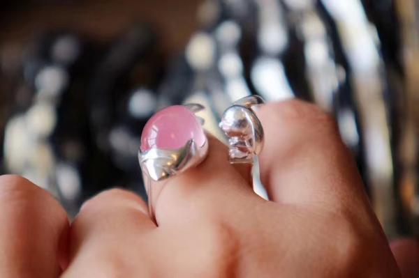 粉晶戒指-菩心晶舍