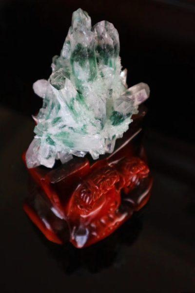 【绿幽灵晶簇|招财助事业】建议放在办公室助事业-菩心晶舍