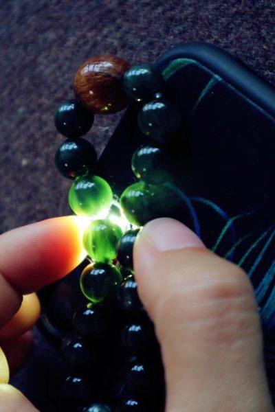 【绿发晶 原矿绿松如意锁 铜发晶】-菩心晶舍