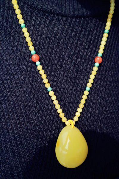 【蜜蜡】蜜蜡为三大有机宝石之首,安神静心-菩心晶舍