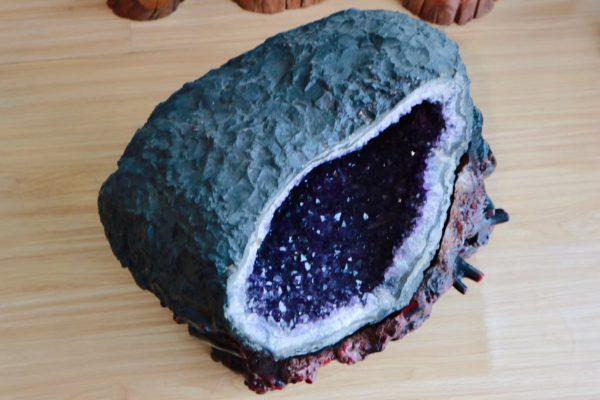 【收藏级乌拉圭紫晶洞】神性俱足的一块紫晶洞大摆件-菩心晶舍