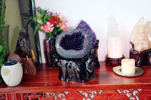 【紫晶洞】紫气东来,贵人常助-菩心晶舍