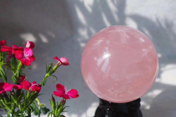 【粉晶球】每一天都会是春暖花开的日子~-菩心晶舍
