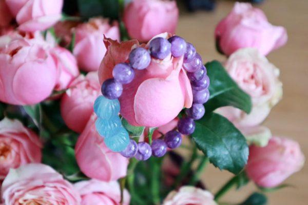 【紫龙晶 | 海蓝宝莲花珠】 紫龙晶是主宰恐惧的灵魂之石-菩心晶舍