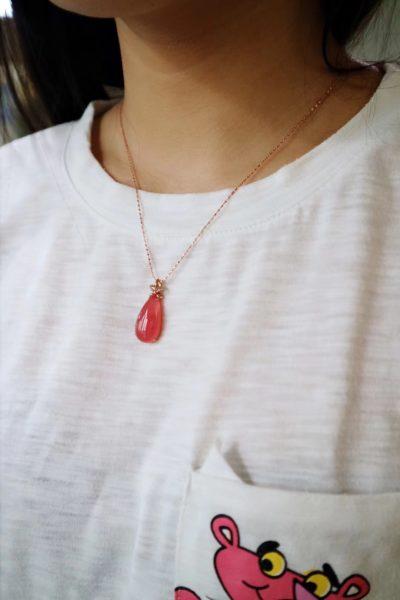 【红纹石|18k玫瑰金】-冰种-菩心晶舍